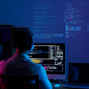 rear view programmer working all night long 1098 18697